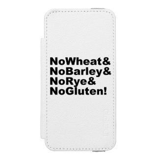 NoWheat&NoBarley&NoRye&NoGluten! (blk) Incipio Watson™ iPhone 5 Wallet Case