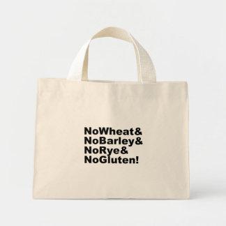 NoWheat&NoBarley&NoRye&NoGluten! (blk) Mini Tote Bag