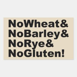 NoWheat&NoBarley&NoRye&NoGluten! (blk) Rectangular Sticker
