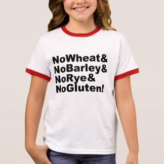 NoWheat&NoBarley&NoRye&NoGluten! (blk) Ringer T-Shirt