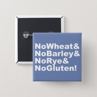 NoWheat&NoBarley&NoRye&NoGluten! (wht) 15 Cm Square Badge
