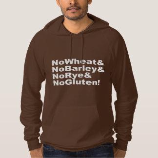 NoWheat&NoBarley&NoRye&NoGluten! (wht) Hoodie