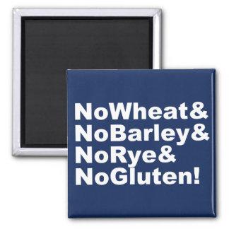 NoWheat&NoBarley&NoRye&NoGluten! (wht) Magnet