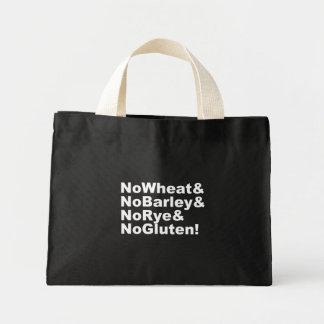 NoWheat&NoBarley&NoRye&NoGluten! (wht) Mini Tote Bag