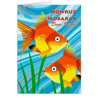 Nowruz Mobarak, Persian New Year, For Sister, Fish Card