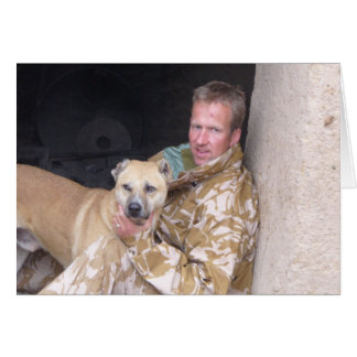 Nowzad and pen waiting greeting card
