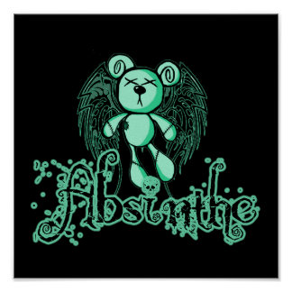 NOXIOUS TEDDY - Absinthe The Green Fairy Poster