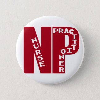 NP Big Red NURSE PRACTITIONER 6 Cm Round Badge