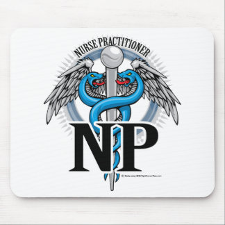 NP Blue Caduceus Mouse Pad