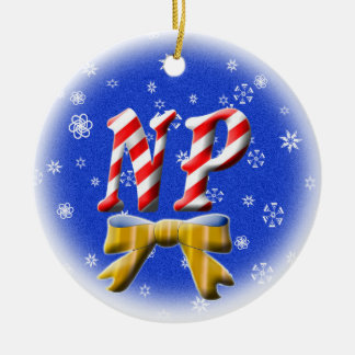 NP CANDY CANE CHRISTMAS ORNAMENT - NURSE
