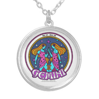 NP Gemini Medium Silver Plated Round Necklace