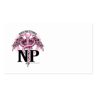 NP PINK Caduceus Double-Sided Standard Business Cards (Pack Of 100)