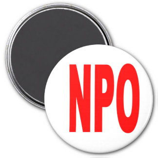 NPO - Round Refrigerator Magnet