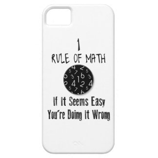 Nr 1 rule of Math Barely There iPhone 5 Case