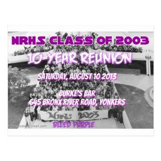 NRHS Class of 2003 10-Year Reunion Apparel Postcard