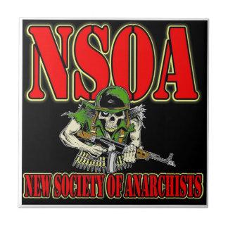 NSOA Army Skull logo Ceramic Tile