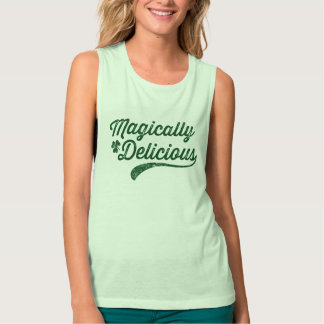 NSPFgtxt Vintage Magically Delicious Top Flowy Muscle Tank Top