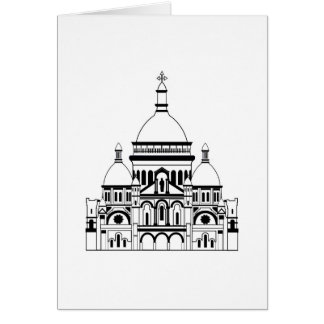 nspired by the Sacre Coeur, Montmartre Greeting Card