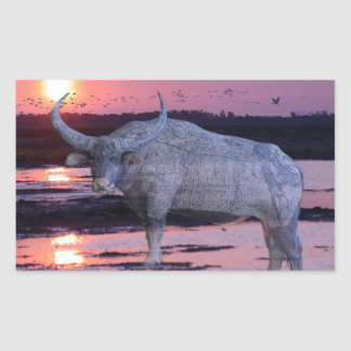 NT Buffalo Rectangular Sticker