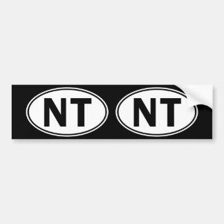 NT Oval Identity Sign Bumper Sticker