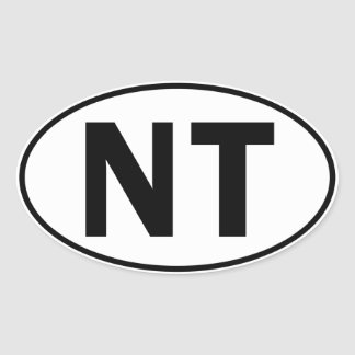 NT Oval Identity Sign Oval Stickers