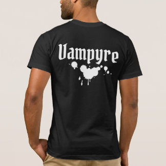 Nu Goth Gothic white on Black Dracula Vampire Emo T-Shirt