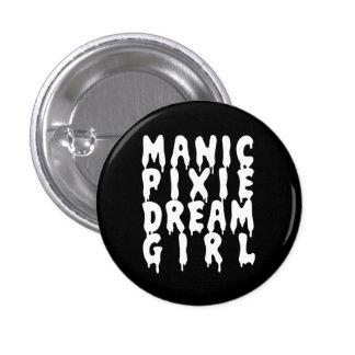 Nu Goth Manic Pixie Dream Girl 3 Cm Round Badge