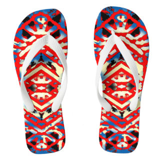 Nu One Red Urban Style Flip Flops 2 Thongs
