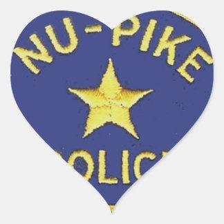 Nu-Pike Police Heart Sticker