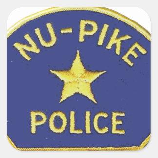 Nu-Pike Police Square Sticker