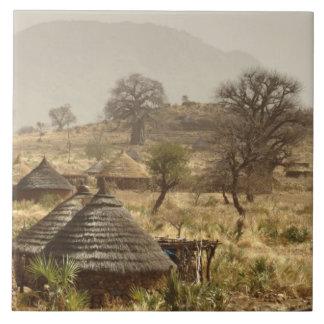 Nuba Mountains, Nugera village Large Square Tile