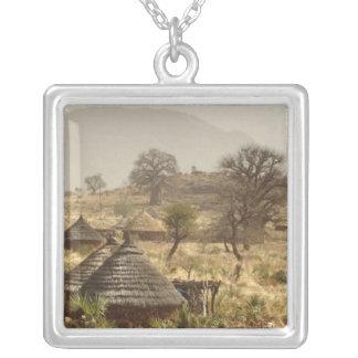 Nuba Mountains, Nugera village Square Pendant Necklace