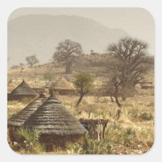 Nuba Mountains, Nugera village Square Sticker