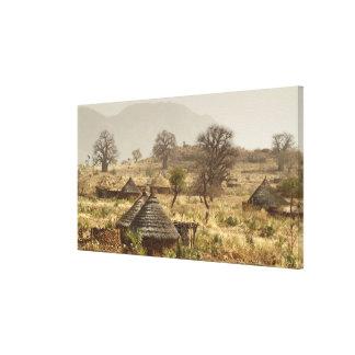 Nuba Mountains, Nugera village Stretched Canvas Prints