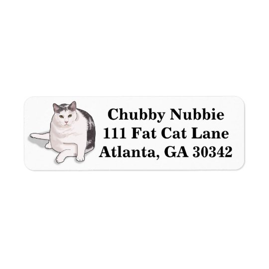 Nubbie the Japanese Bobtail Address Labels