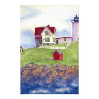 Nubble Light House York Maine Stationery