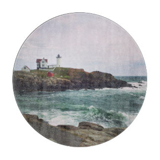 Nubble Light - York, Maine Glass Cutting Board