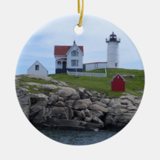 Nubble Lighthouse - Maine Ceramic Ornament