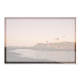 Nubble Lighthouse Stationary Stationery Design