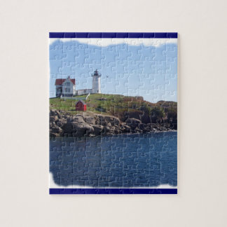 Nubbles Lighthouse, Maine Jigsaw Puzzle
