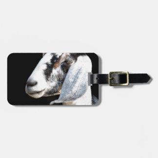 nubian goat luggage tag