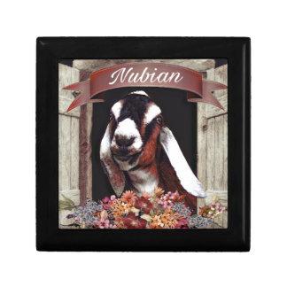 Nubian Goat Small Square Gift Box