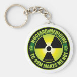 Nuc Med Tech Basic Round Button Key Ring