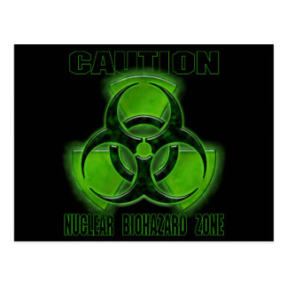 Nuclear Biohazard Caution Sign Postcards