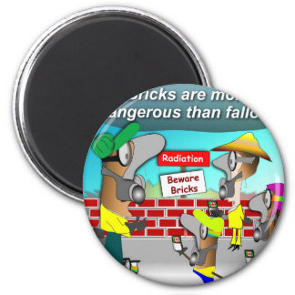 Nuclear Bricks 6 Cm Round Magnet
