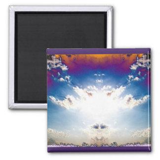 Nuclear Cloud 2 Square Magnet