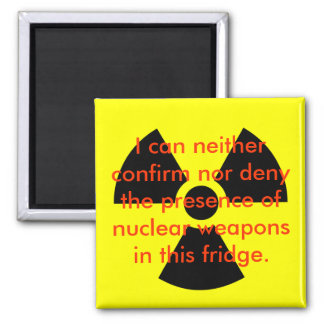 Nuclear Denial Square Magnet