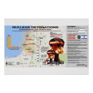 Nuclear Det0nations - Israel 1 Poster