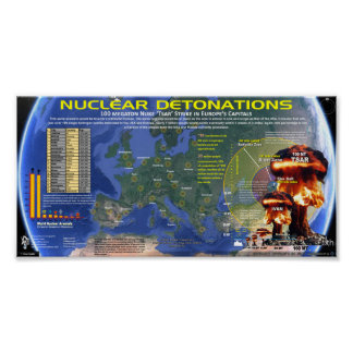 Nuclear Detonations - Europe Poster