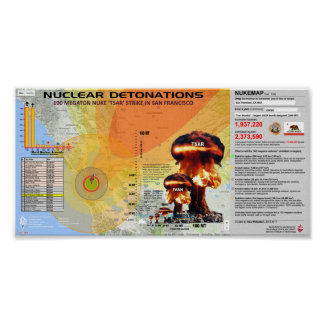 Nuclear Detonations - San Francisco Poster